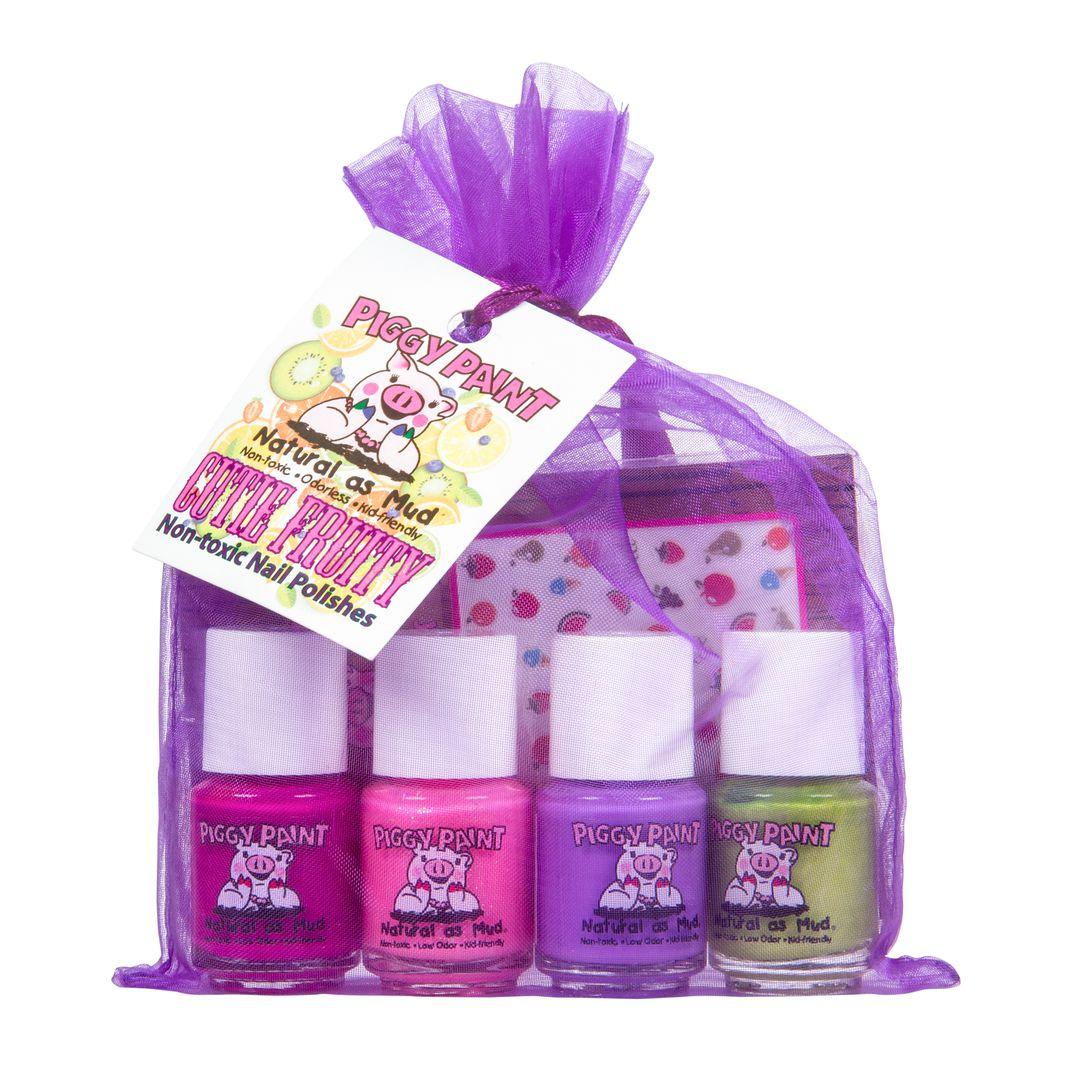 Piggy Paint - Nail Polish, Cutie Fruity, Gift Set - Azure Standard