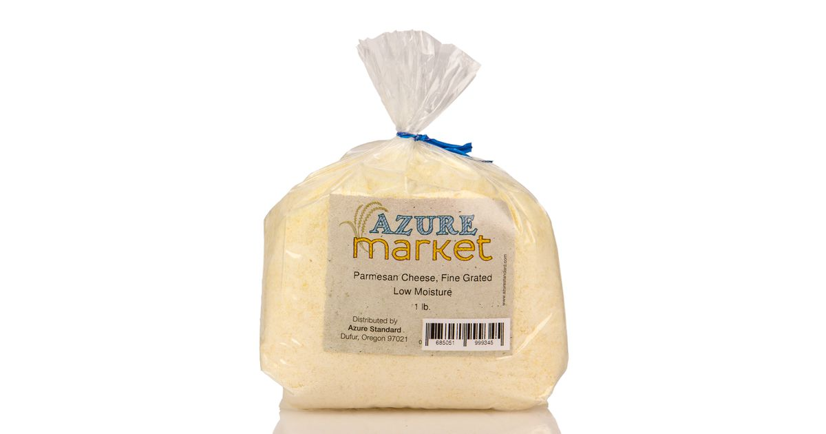 Azure Market Parmesan Cheese Fine Grated Low Moisture