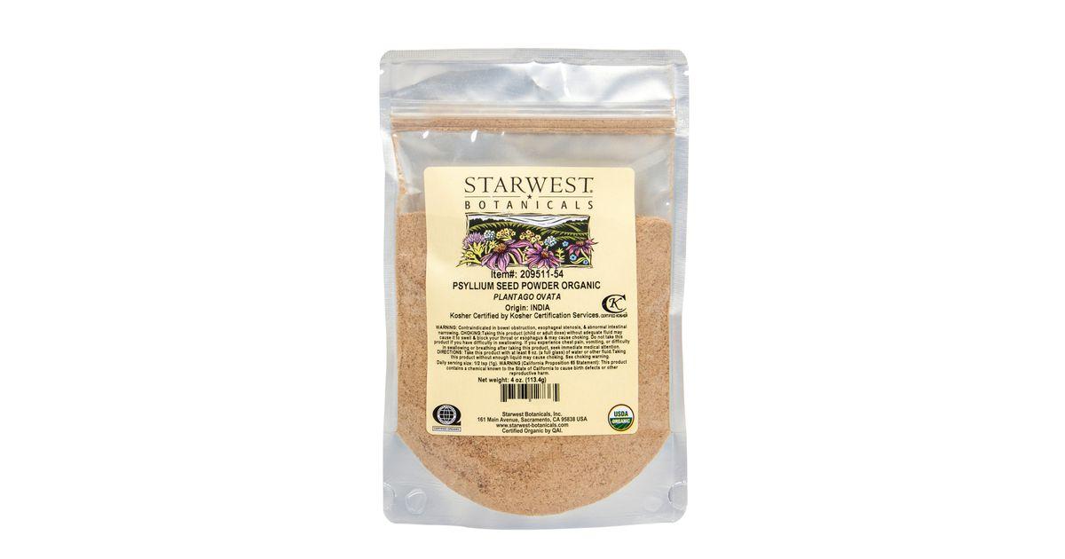 Starwest Psyllium Seed Powder Organic Azure Standard