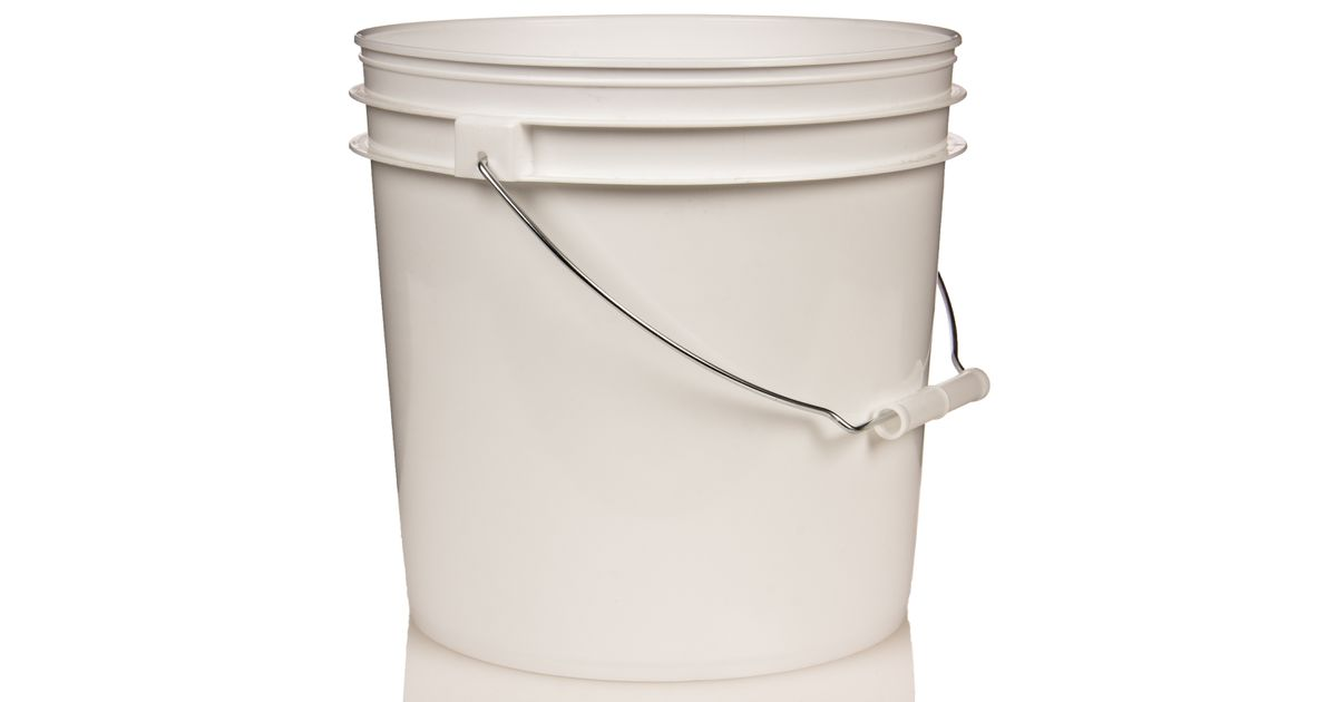 Packaging Supplies Empty 2 Gallon Plastic Pailbucket Without