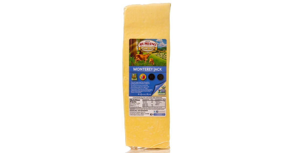 Rumiano Family Organic Monterey Jack Cheese, Organic, Random Weight