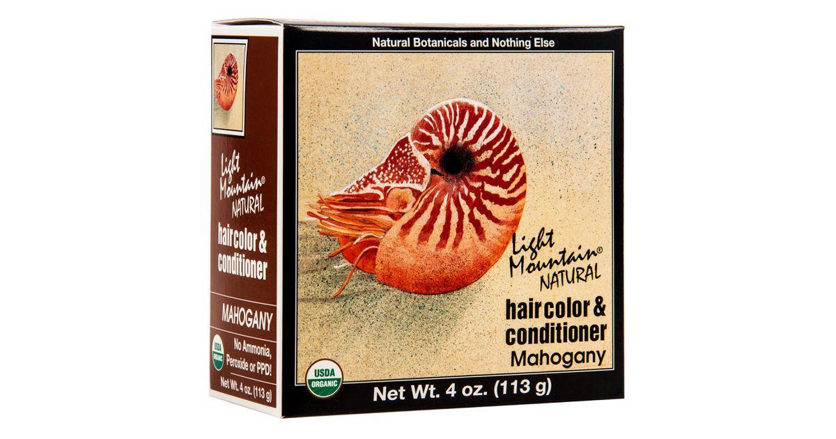 Light Mountain Hair Color 4 Mahogany Organic Azure Standard