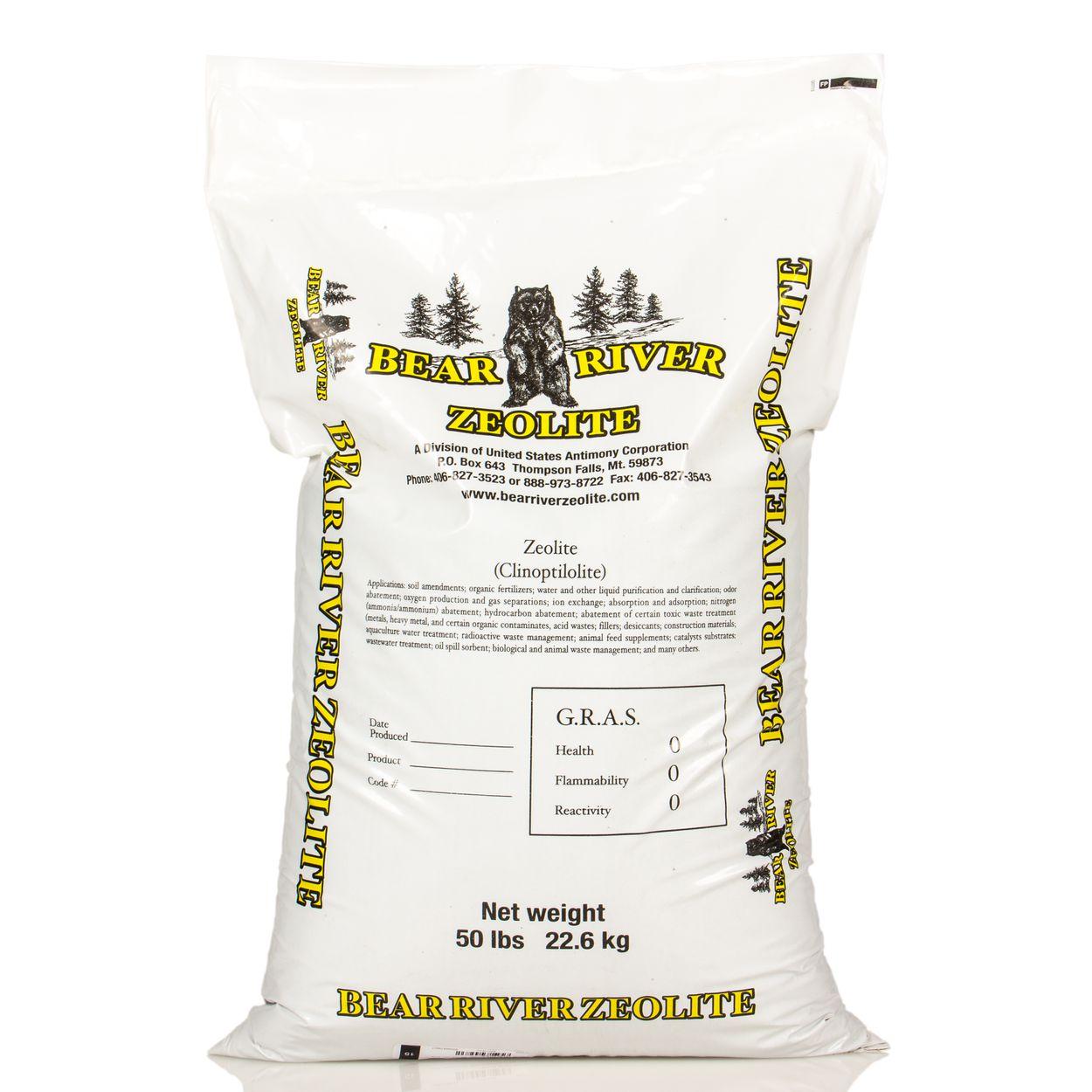 Zeolite, for Garden and Animal 14x40, 50 lb
