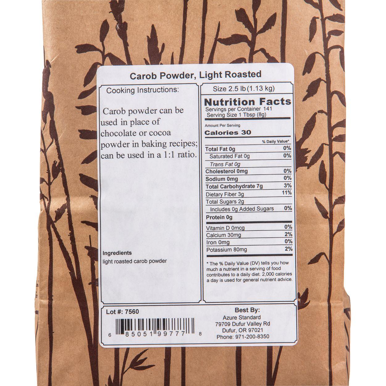 Carob Powder, Light Roasted