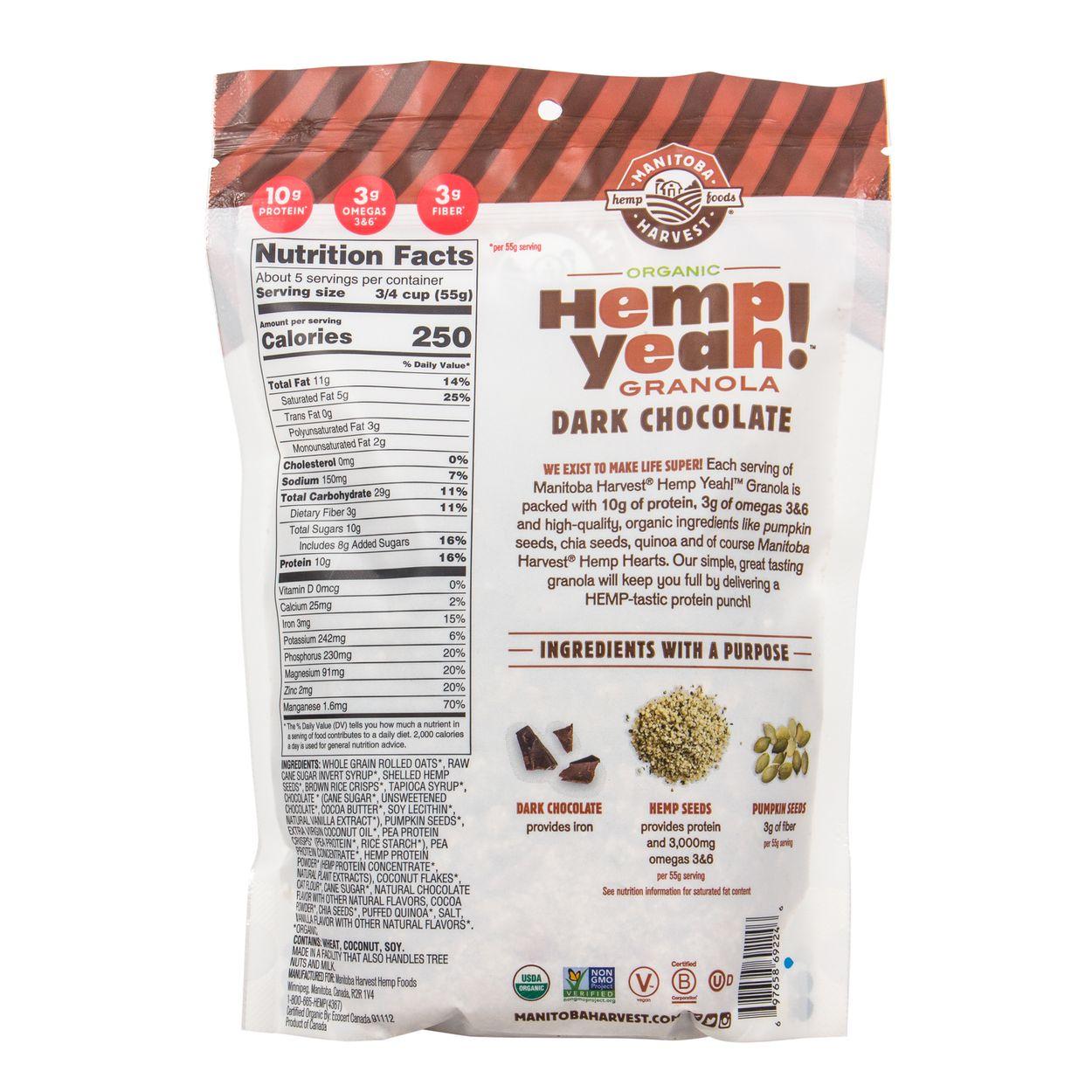 Granola, Dark Chocolate Hemp, Organic