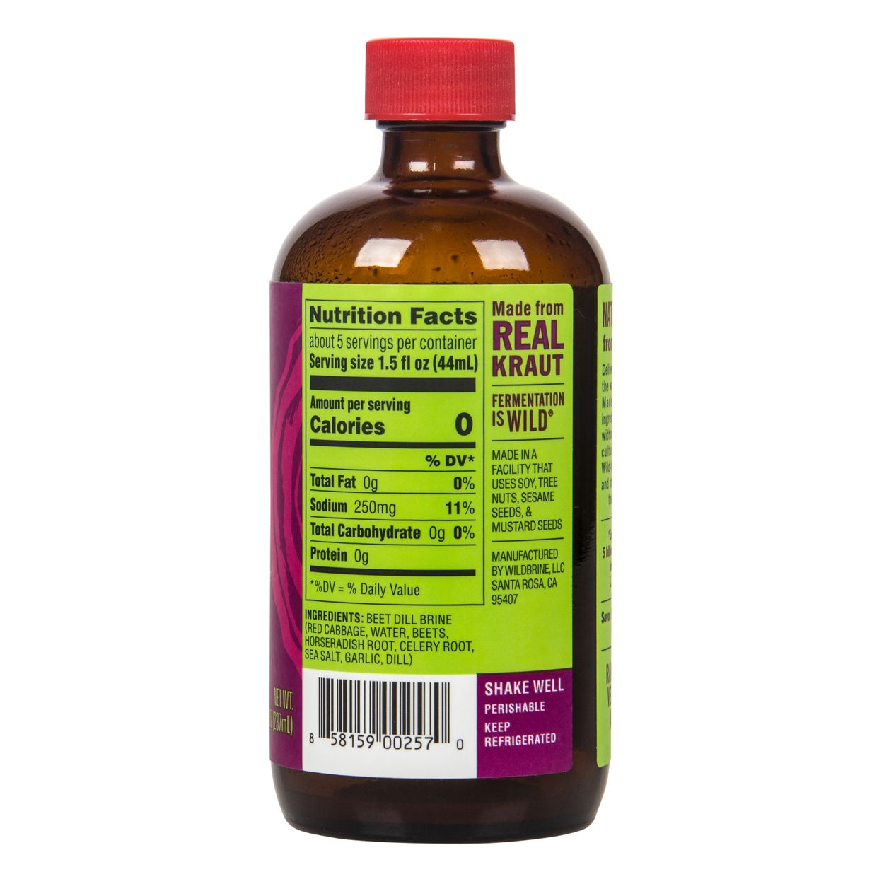 Wildbrine - Live Shots, Probiotic, Beet Dill - Azure Standard