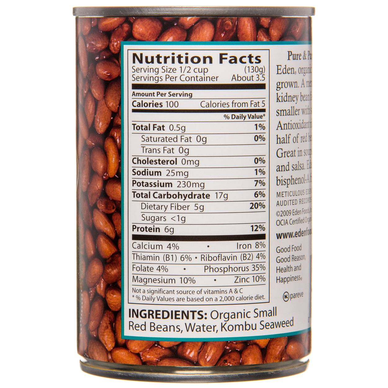 Eden Foods Small Red Beans Canned Organic Azure Standard