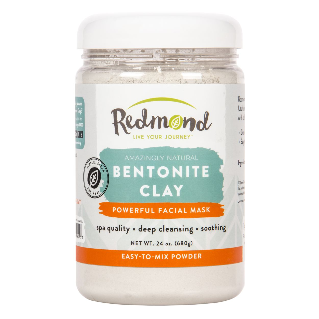 Amazingly Natural Bentonite Clay Facial Mask - 24 oz. by Redmond Trading (pack of 3) Alpha Light Skin Bright Mask, 2 oz / 60 ml