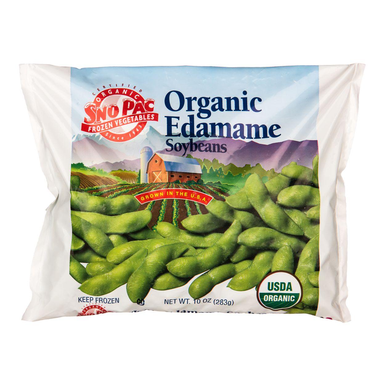 Snopac Edamame With Pod Frozen Organic Azure Standard
