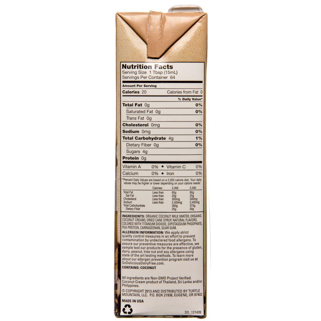 So Delicious - Coconut Milk, Barista