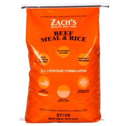 Zachs Quality Dog Food Dog Food Beef Meal Rice 2715 Azure