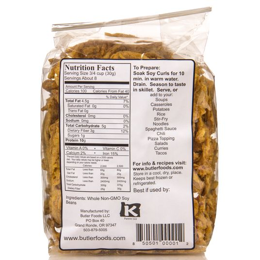 Butler Foods - Soy CURLS, Natural, GMO