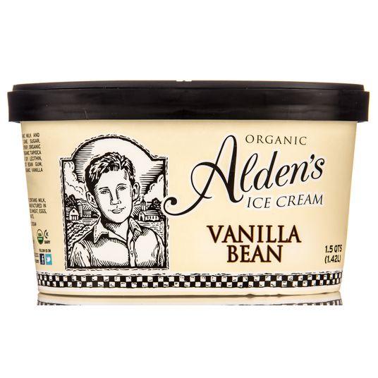 Alden S Vanilla Bean Ice Cream Frozen Organic