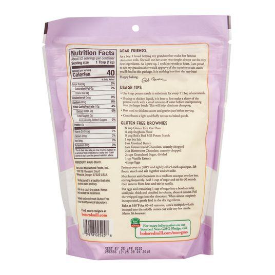 Potato Starch, Unmodified, All Natural, 22 oz