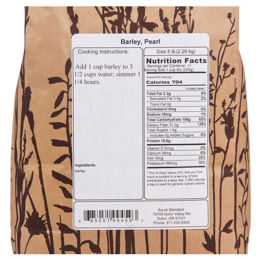 Barley, Pearl - Azure Standard